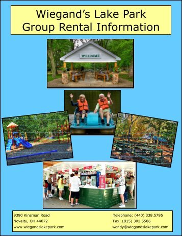 Planning Booklet - Wiegand's Lake Park