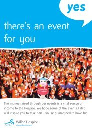 Download latest events programme here - Willen Hospice