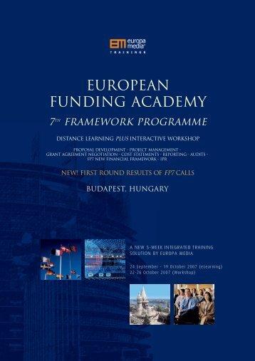 european fp7 funding academy, budapest