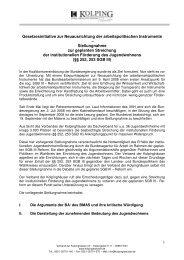 Stellungnahme zur geplanten Streichung der insti - Verband der ...