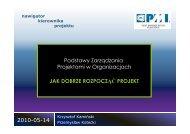 2010-05-14 Podstawy Zarządzania Projektami w Organizacjach JAK ...