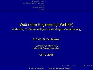 Web (Site) Engineering (WebSE) - Vorlesung 7: Serverseitige ...