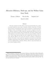 Allocative Efficiency, Mark-ups, and the Welfare Gains from Trade