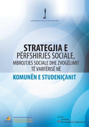 strategji për përfshirje sociale, mbrojtje sociale dhe ulje të varfërisë ...