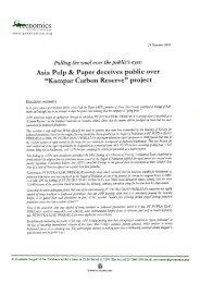 """Asia Pulp & Paper deceives public over """"Kampar Carbon"""