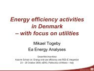 Energy efficiency activities in Denmark – with ... - Ea Energianalyse
