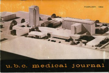 Download full PDF - UBC Medical Journal