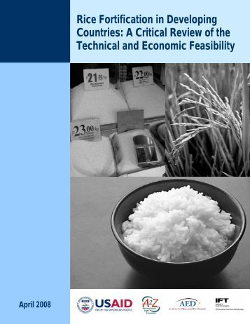 Rice Fortification in Developing Countries - A2Z: The USAID ...