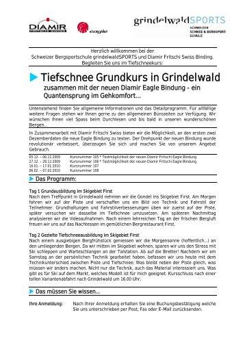 Tiefschnee Grundkurs in Grindelwald - Diamir