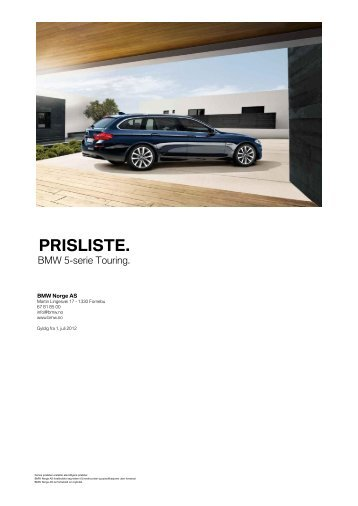 PRISLISTE. - BMW Norge