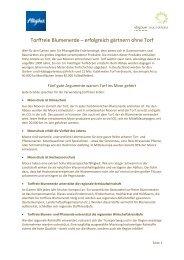 Gründe und Erfolge torffreie Blumenerde - Allgäuer Moorallianz