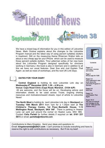 September 2010 – Lidcombe News Edition 38th - Montreal Fluency