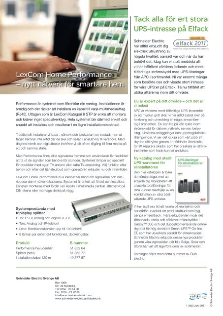 Juni 2011 - Schneider Electric