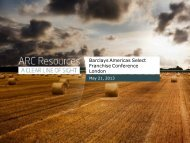 reserves and resources - ARC Resources Ltd.
