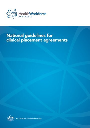 National guidelines for clinical placement agreements - Health ...