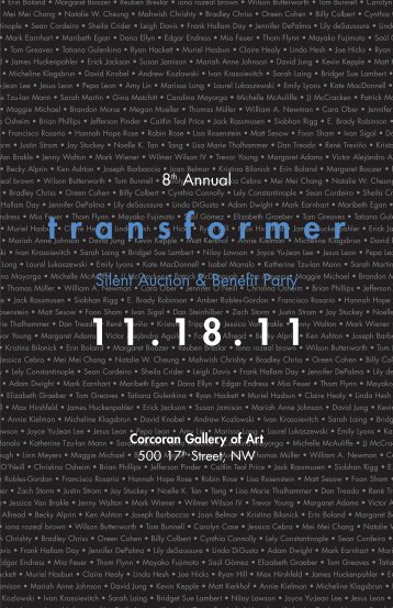 View the 2011 Auction Catalog - Transformer