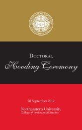 doctoral hooding ceremony program - Northeastern University ...