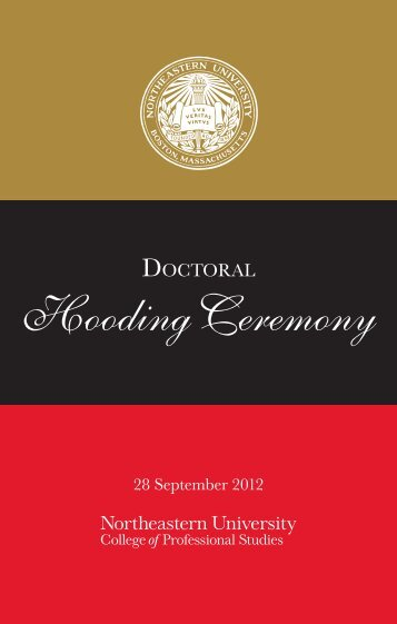 doctoral hooding ceremony program - Northeastern University ...
