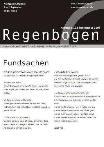Regenbogen September 2008 - St. Heinrich