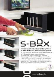 """""""3D-Design"""" für Ihr zu Hause der Zukunft. Mit lebenslanger ... - S-Box"""