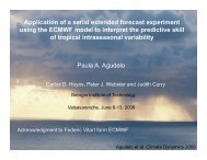 Application of a serial extended forecast experiment using the ...