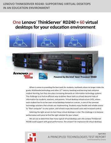 Supporting virtual desktops in an education environment - Lenovo   US