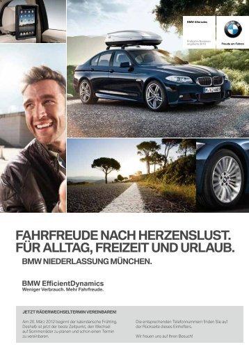 FAhrFreude nAch herzenSluSt. Für AlltAg, Freizeit und urlAuB. BMW ...