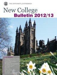 New College news - University of Edinburgh