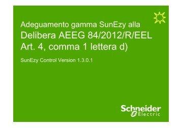 Procedura adeguamento SunEzy alla Delibera ... - Schneider Electric