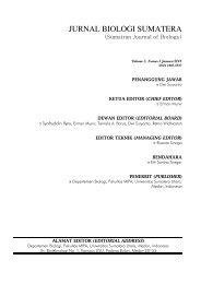 jurnal biologi sumatera - USUpress - Universitas Sumatera Utara