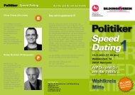Politiker-Speed-Dating - Bildungsverein