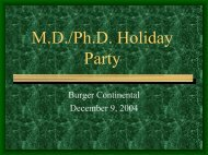 MD-PhD Holiday Party..