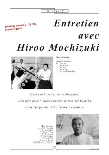 Entretien avec Hiroo Mochizuki - Aikidojournal