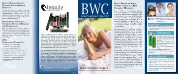 Beauty Without Cruelty Hair, Skin & Body Care Overview Brochure