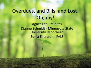 Overdues, and Bills, and Lost! Oh, my! - PALS