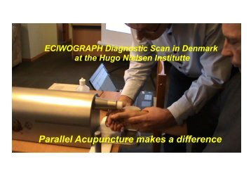 Parallel Acupuncture makes a difference - Hugo Nielsen Instituttet