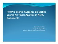 FHWA's Interim Guidance on Mobile Source Air Toxics ... - MARAMA