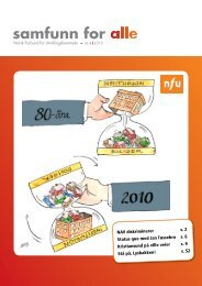 Her kan du lese Samfunn for alle nr. 4 2010 - NFU