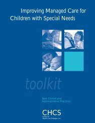 Improving Managed Care for Children with Special Needs