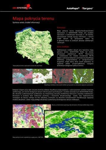 Mapa pokrycia terenu - Geosystems Polska Sp. z o.o., Warszawa