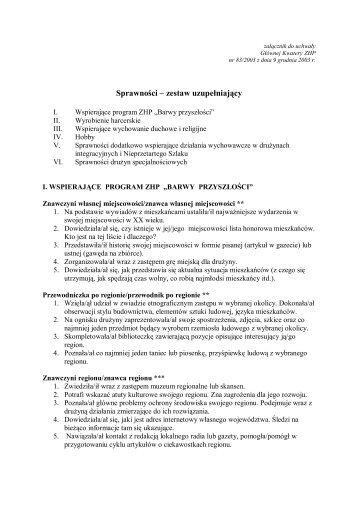 Sprawności – zestaw uzupełniający - Hufiec ZHP Strzelce Krajeńskie
