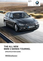3 Series Touring Dealer Specification Guide - BMW