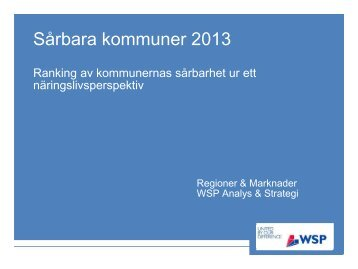 Bilaga 1: Sårbara kommuner 2013 - Ekerö kommun