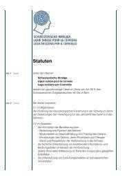Statuten SHL d neu - Schweizerische Hirnliga