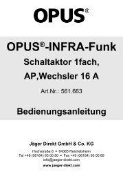 INFRA-Funk Schaltaktor 1fach, AP,Wechsler 16 A - OPUS Schalter