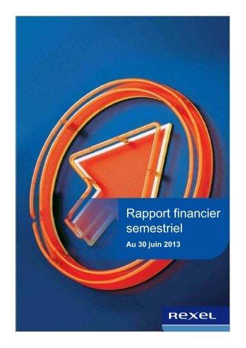 Rapport financier semestriel - Rexel