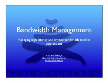 bandwidth management.key