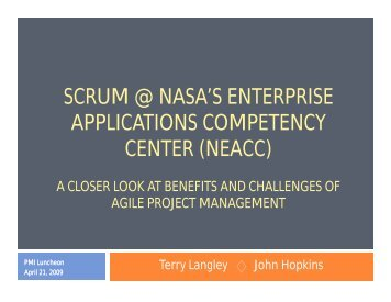 scrum @ nasa's enterprise applications competency center (neacc)