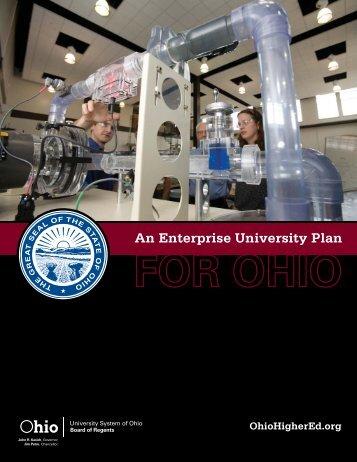 Enterprise University Plan - Ohio Board of Regents
