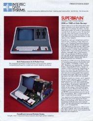 Superbrain data sheet - 1000 BiT
